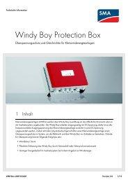 Windy Boy Protection Box - SMA Solar Technology AG