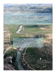 The Influences of Human Activities on the Waters of the Pecos Basin ...