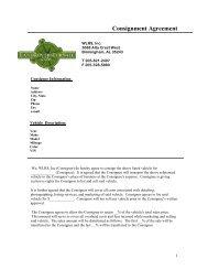 Consignment Agreement - eCarList