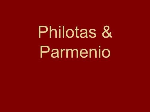 Philotas & Parmenio