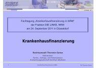 Krankenhausfinanzierung - Die Linke NRW