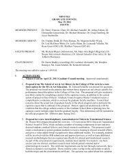 MINUTES GRADUATE COUNCIL May 19, 2011 1 ... - Graduate School