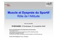 muscle et dyspnée du sportif - Club des Cardiologues du Sport