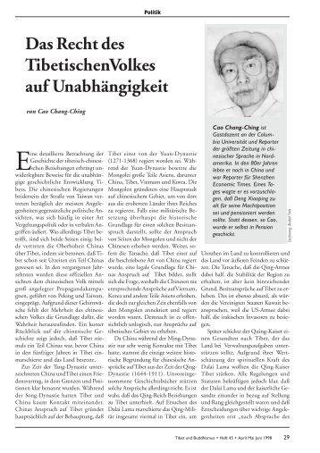 Heft 45 Tibet & Buddhismus