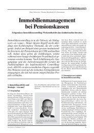 Immobilienmanagement bei Pensionskassen - REOS® Real Estate ...