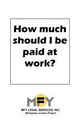 How much should I be paid at work? - MFY Legal Services