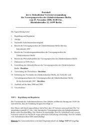 6. Ordentliche Vertreterversammlung vom 29. November 2008