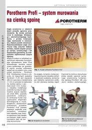 Porotherm Profi – system murowania na cienką spoinę - Przegląd ...