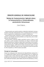 PRINCIPII GENERALE DE FARMACOLOGIE Noţiuni de ...