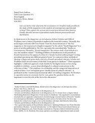 Daniel Scott Snelson Field Exam Question Nº1 Penn English ...