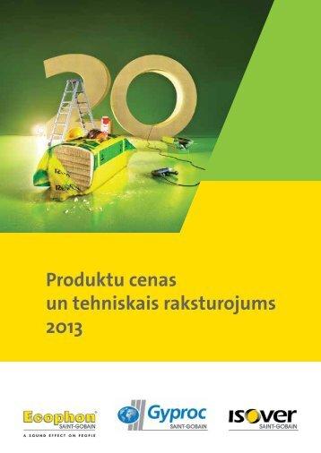 Isover, Isotec, Vario, Gyproc, Ecophon u.c. materiālu jaunais ...