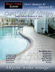 Stamped Overlay / Concrete Brochure - Renew-Crete Systems