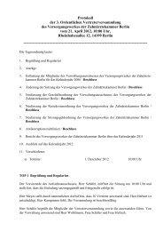 Beschluss - Versorgungswerk der Zahnärztekammer Berlin