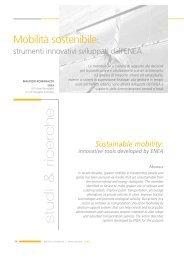 Mobilità sostenibile - Enea