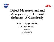 Defect Measurement and Analysis of JPL Ground Software: A Case ...