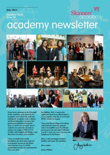Newsletter 8: July 2013 - Skinners' Academy