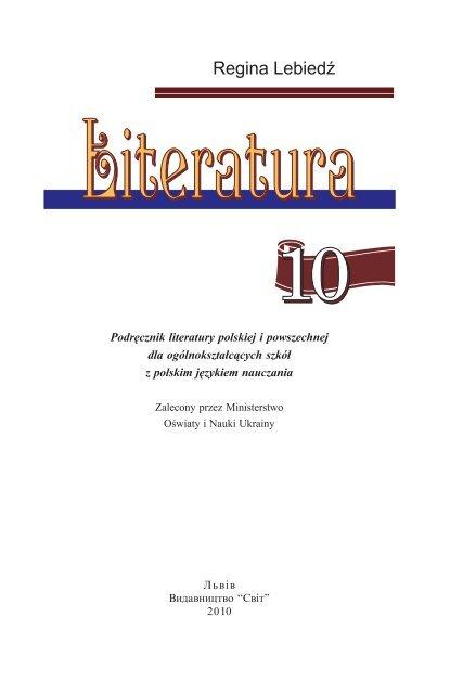 Podręcznik Literatury Polskiej I Powszechnej Dla