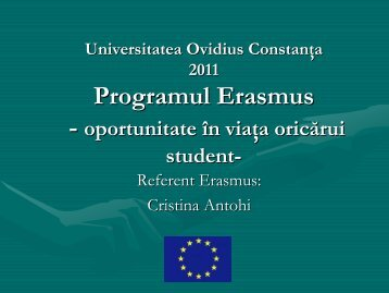 Prezentare EUC Cristina Antohi - Universitatea Ovidius ... - LLP