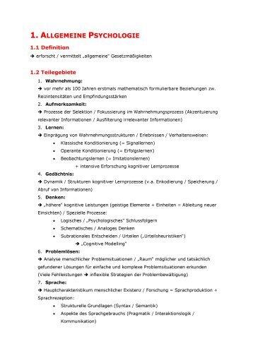 1_ Allgemeine Psychologie