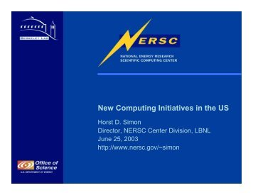New Computing Initiatives in the US