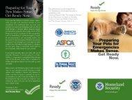 Preparing Your Pets for Emergencies Makes Sense ... - Ready.gov