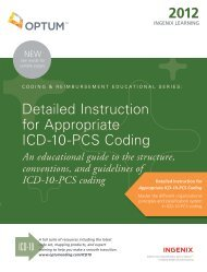 Detailed Instruction for Appropriate ICD-10-PCS Coding 2012