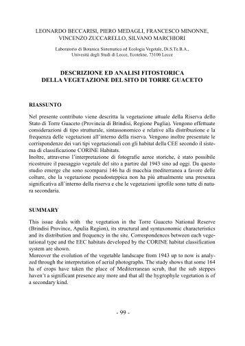 L. Beccarisi, P. Medagli, F. Minonne, V. Zuccarello, S. Marchiori ...