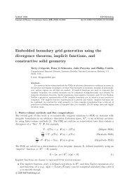 Embedded boundary grid generation using the divergence theorem ...