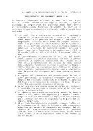 Allegato alla determinazione n. 61/SG del 20/01/2010 ...