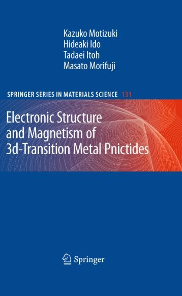 Electronic Structure and Magnetism,3d-Transitio.. - Index of