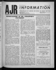 Feuchtwanger (London) Ltd. - The Association of Jewish Refugees