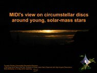 MIDI's view on circumstellar discs around young, solar-mass ... - ESO