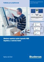 Modulový regulačný systém Logamatic 4000 Regulátory a ... - Buderus