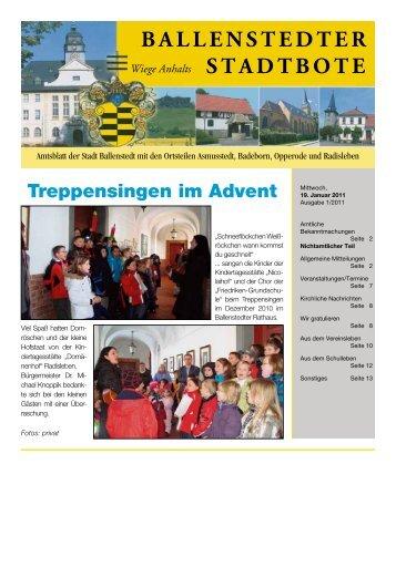 Nachruf - Ballenstedt