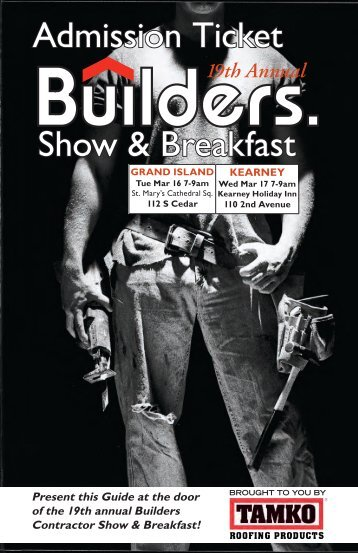 Show & Breakfast Admission Ticket - Builders