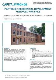 part built residential development freehold for sale - Capita Symonds