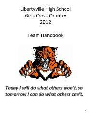 Libertyville High School Girls Cross Country 2012 Team Handbook