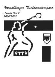 TT Ausgabe 3 - Vorarlberger Tischtennisverband