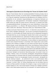 Soziologische Systemtheorie und Soziale Arbeit