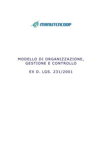 modello di organizzazione, gestione e controllo ex d ... - Manutencoop