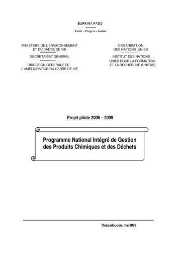 Programme National Intégré de Gestion des Produits ... - UNITAR