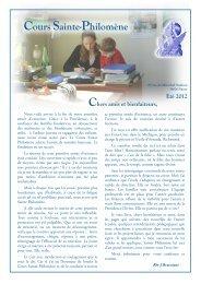Lettres aux Amis et Bienfaiteurs de juillet 2012 - La Porte Latine