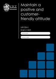 Know how to maintain a positive and customer friendly attitude - VTCT