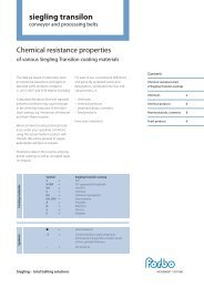 Chemical resistance properties