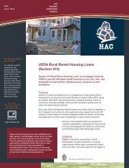 USDA Rural Rental Housing Loans (Section 515)