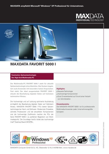 MAXDATA FAVORIT 5000 I