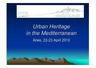 Urban Heritage in the Mediterranean - Qualicities