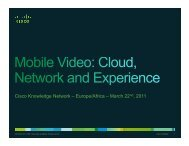 Cisco Knowledge Network – Europe/Africa – March 22nd, 2011