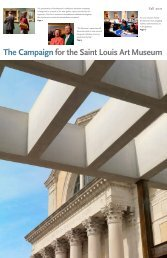 campaign donors - Saint Louis Art Museum