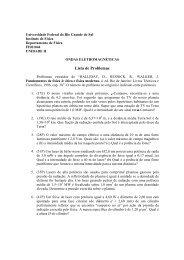Lista de Problemas - Instituto de Física - UFRGS